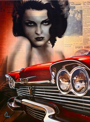 how to draw cars,hot rod art, lowbrow art